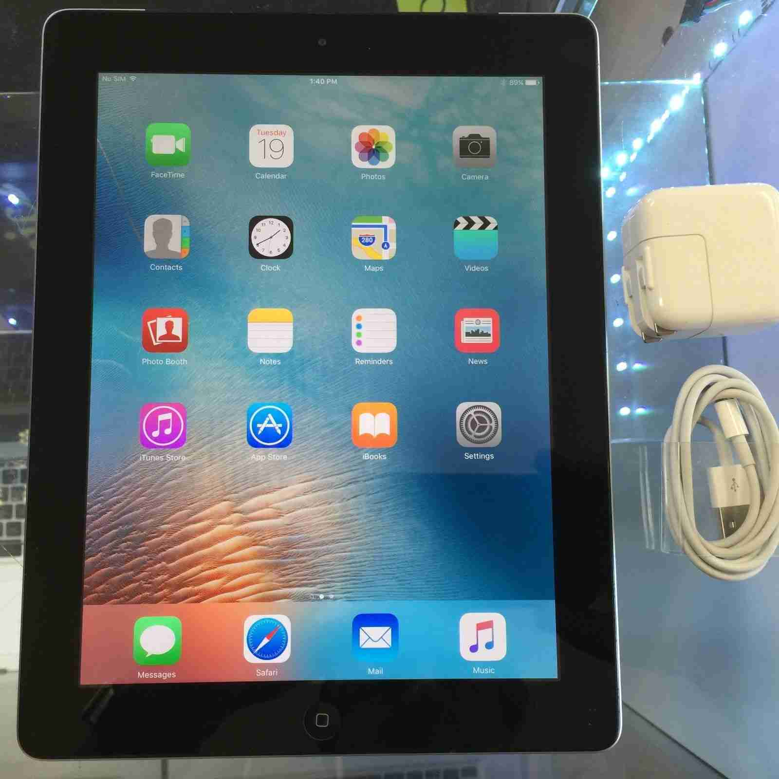 apple ipad 4th generation 32gb wi fi cellular at t. Black Bedroom Furniture Sets. Home Design Ideas