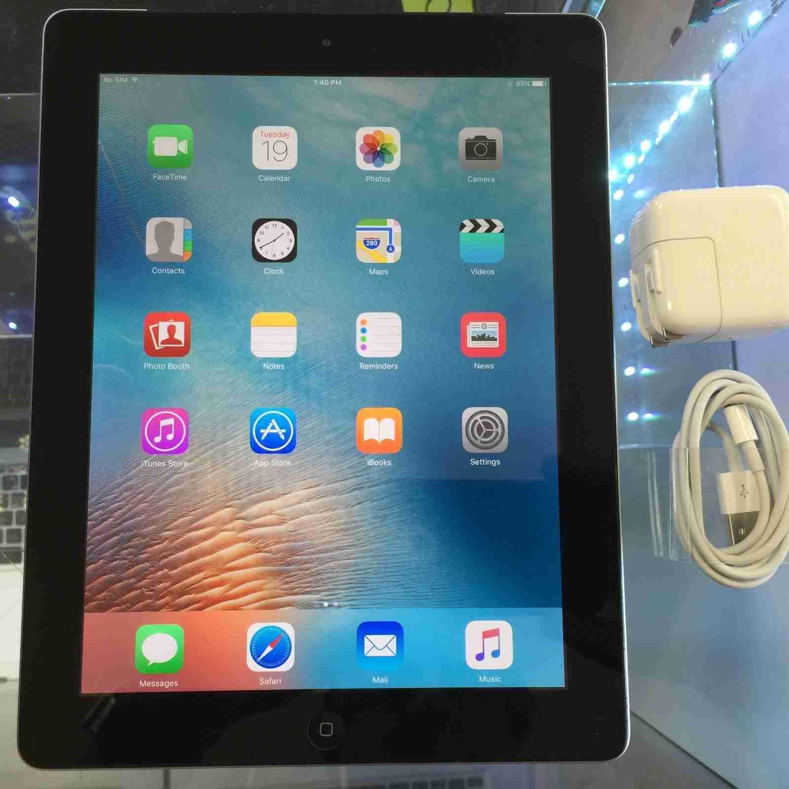 apple ipad 4th generation 32gb wi fi cellular at t. Black Bedroom Furniture Sets. Home Design Ideas