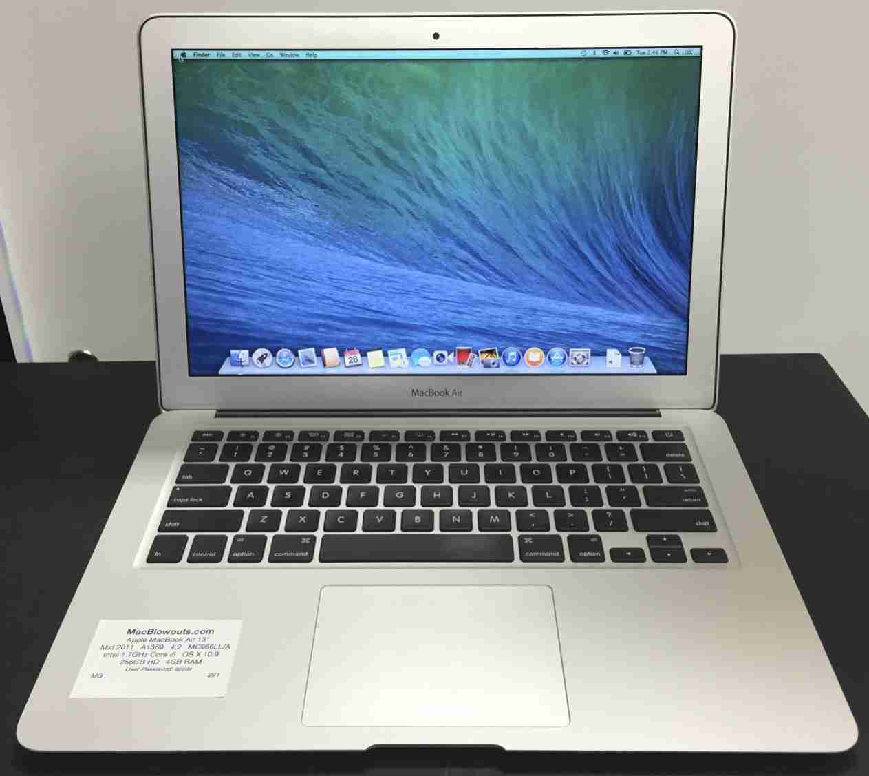 Apple MacBook Air 13″ Intel 1.6 GHz Core i5 – 64GB Hard Drive – 2GB RAM  (Mid 2011) MC968LL/A | MacBlowouts